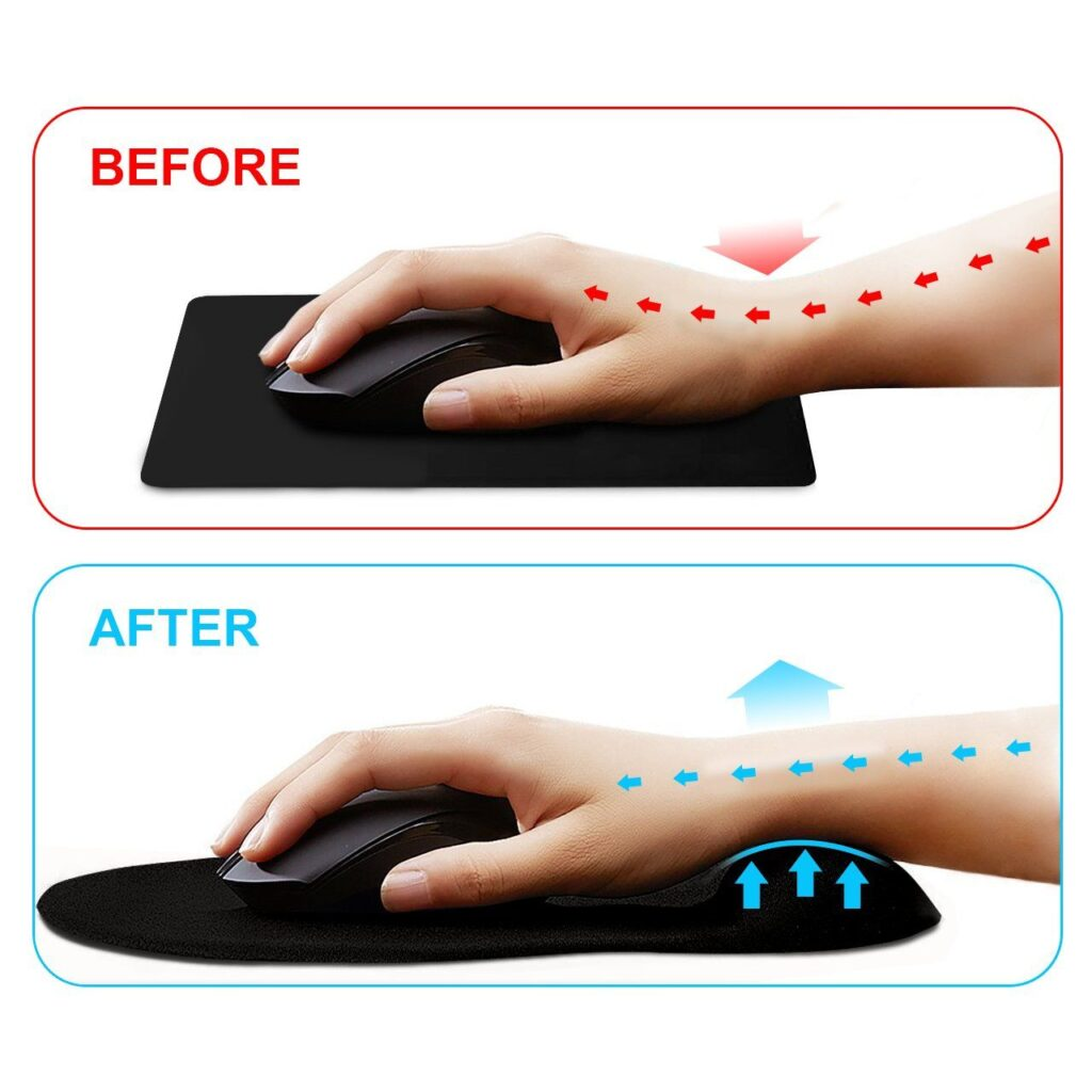 mouse pad for carpal tunnel
